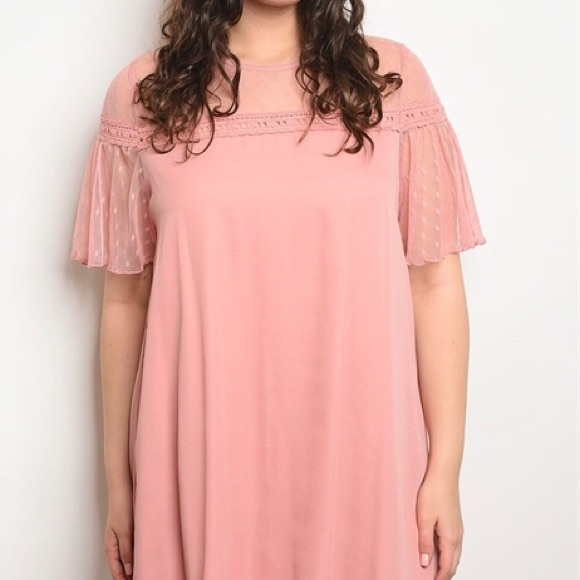 Dresses | Plus Size Light Pink Dress | Poshmark